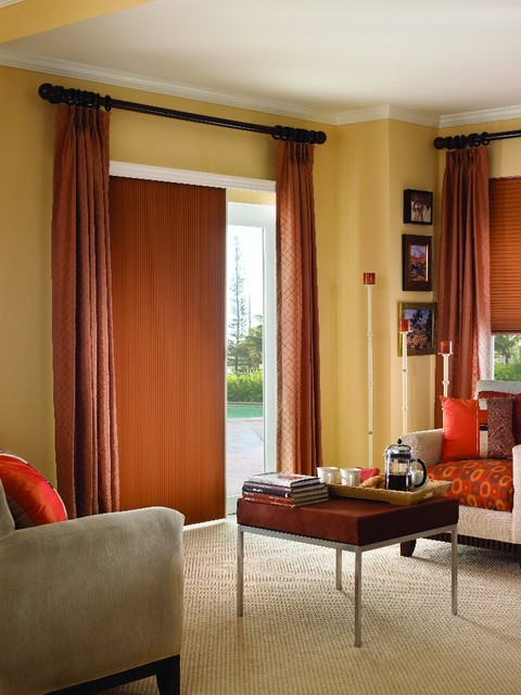 Cellular Shades For Your Sliding Glass Door Traditional