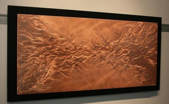 Electric Fields In Copper Metal Wall Art