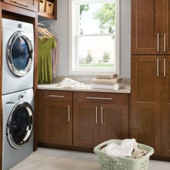 Shenandoah Kitchen Cabinets White Appliances Cabinetry - Craftsman Laundry Room Seattle ...