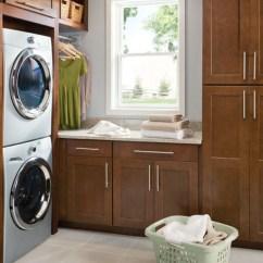 Shenandoah Kitchen Cabinets Under Cabinet Shelving Cabinetry - Craftsman Laundry Room Seattle ...