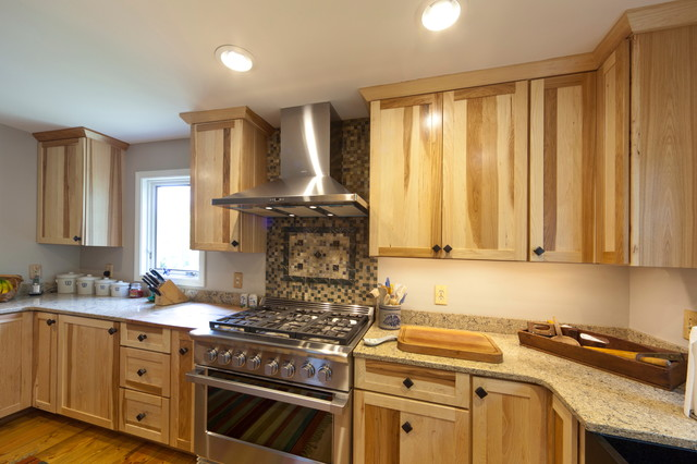 hickory shaker style kitchen cabinets brand new cost medallion cabinetry fo bayside natural