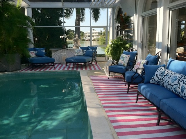 100  Vinyl Runners Naples Florida Pool Area