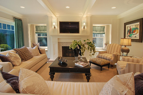 What size ceiling lights should be used for coffered