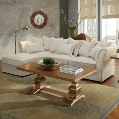Oatmeal Sofa Set L Shape Fella Design Karlee Traditional Beige Linen Sectional - Modern ...
