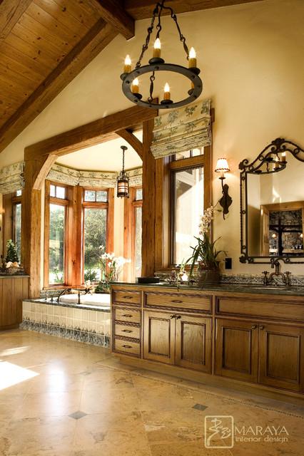 Ranch Mountain Master Bath  Farmhouse  Bathroom  santa