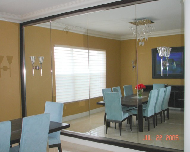 Modern Mirrors  Modern  Dining Room  miami  by CMF