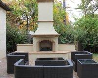 Fort Worth, TX - Mediterranea - Outdoor Fireplace