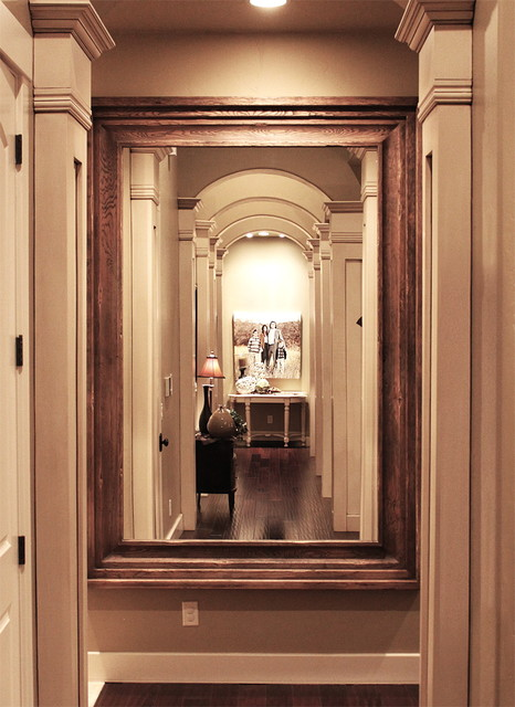 Hallway Hanging Mirror Traditional Entry Salt Lake