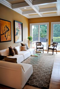 Gold And Brown Living Room