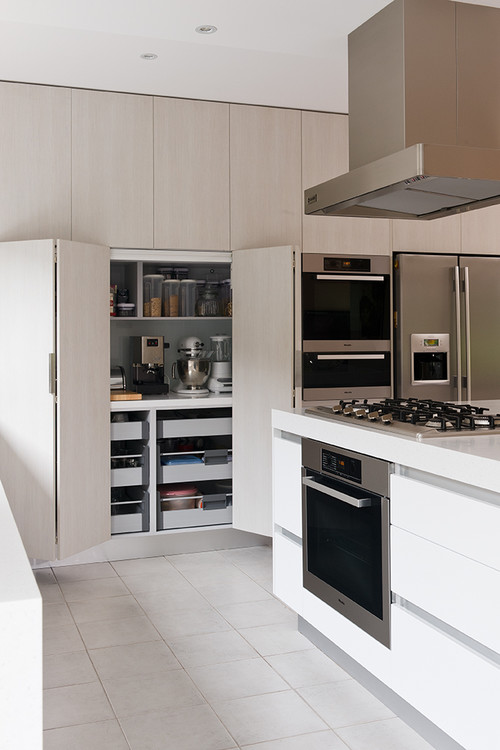 tall kitchen pantry cabinet furniture chairs with casters 7 kitchens seriously clever hideaway counter space ...