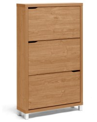 Simms Modern Shoe Cabinet, Maple modern-shoe-storage