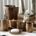 Quot wood bath accessories by kassatex rustic bath and spa accessories