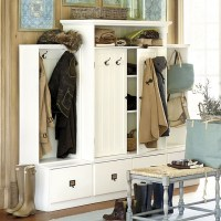 Beadboard Entryway Cabinet with Doors - Traditional - Hall ...
