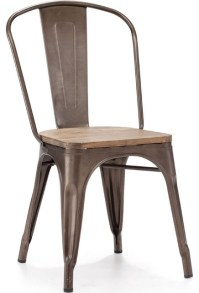 Elio Rustic Wood Chair - Contemporary - Dining Chairs ...