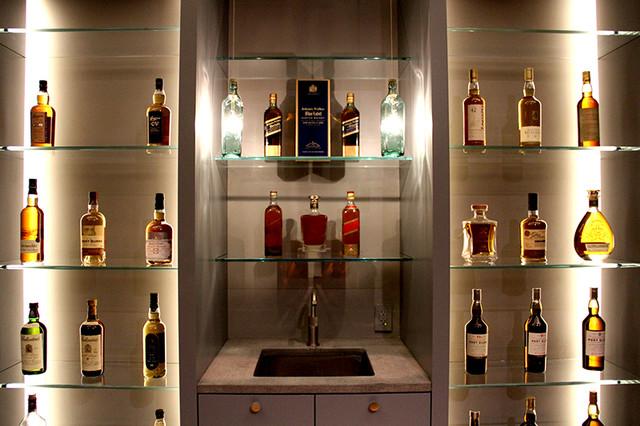 Custom Whiskey Bottle Pendant Lights  Craftsman  Living Room  houston  by Light