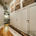 Mud room with built in lockers contemporary entry
