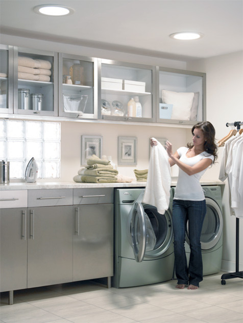 VELUX Sun Tunnels  Contemporary  Laundry Room