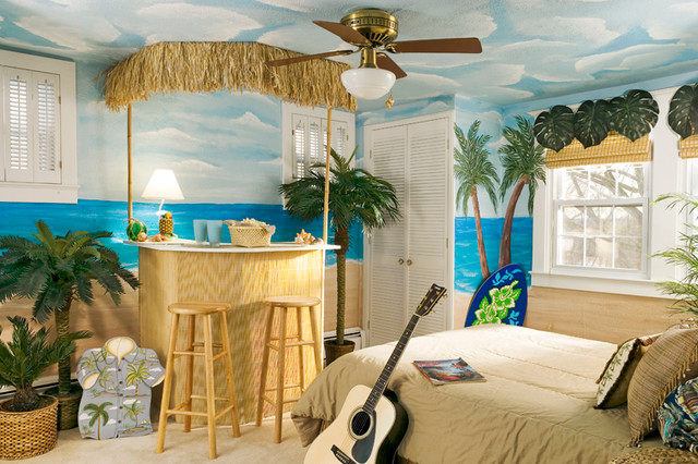 Rockville Teen Bedroom  Beach Style  Bedroom  dc metro  by Suzanne Price Design LLC