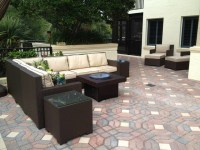 Patio Furniture Set with Gas Fire Pit Table - Traditional ...