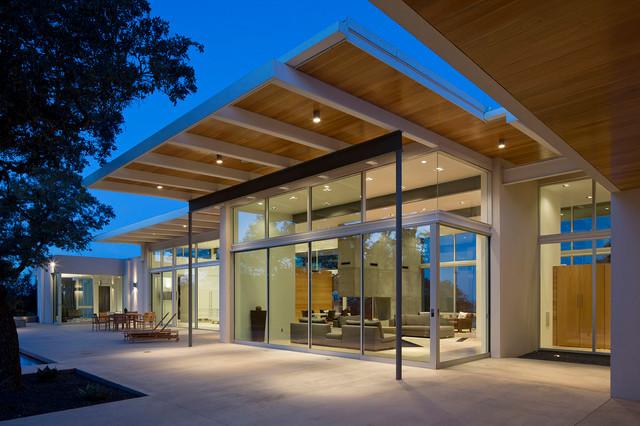photos porch with sliding glass doors modern exterior austin