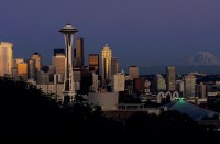 Seattle Skyline Canvas Wall Art - Contemporary - Artwork ...