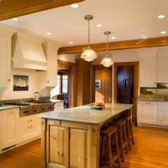 Cape Cod Style Living Room Design Floating Shelves For Summer Residence - Traditional Kitchen Boston ...