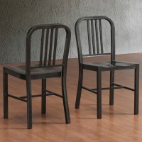 Charcoal Metal Side Chairs (Set of 2) - Contemporary ...