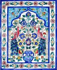 Mosaic Peacock Art 20-tile Ceramic Wall Mural ...