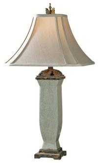 Traditional Uttermost Reynosa Mottled Porcelain Table Lamp ...