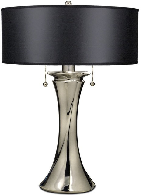 """26"""" Double Pull Chain Table Lamp Polished"""
