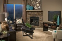 Model Homes - Contemporary - Living Room - omaha - by D3 ...