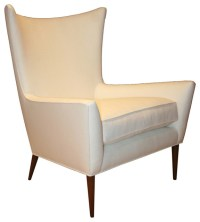 Morton Curved Back Wing Chair - Midcentury - Armchairs And ...