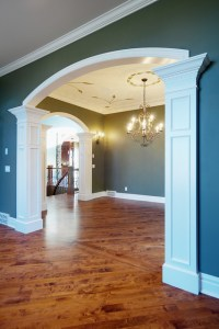 Pillar detail from living to dining room - Traditional ...