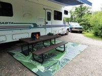 RV Mat Patio Mat Blossom Reversible Green and Grey Outdoor ...
