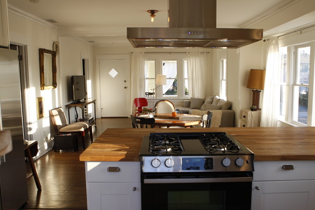 The kitchen in a recent remodel of a 100 year old Craftsman bungalow  Contemporary  Kitchen