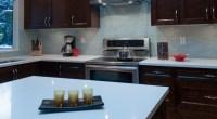 Clear Light Blue Glass Kitchen Backsplash - Modern ...