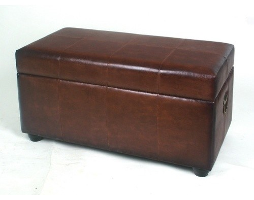 Leather Bedroom Storage Ottoman  Modern  Bedroom Benches