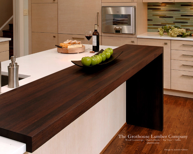 Contemporary Wenge Dark Wood Countertop By Grothouse