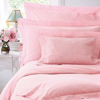 Pink Bedding Sheets Pink Gingham Bed Linen Cologne Cotton