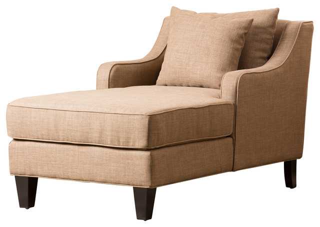 Nancy Fabric Chaise  Contemporary  Indoor Chaise Lounge