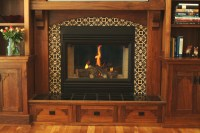 Fireplace surround. Craftsman Style in black walnut.