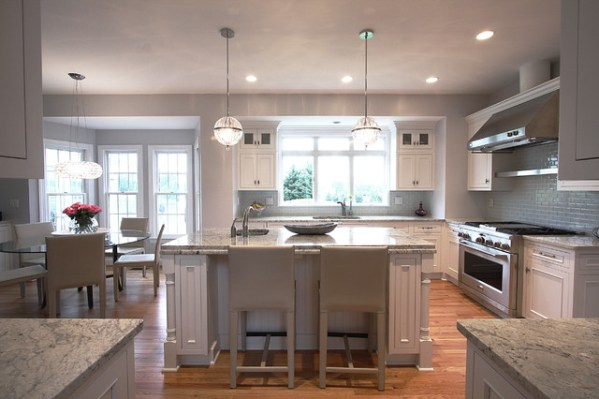 modern classic kitchen design Modern Lighting + Classic Design - Traditional - Kitchen - dc metro - by NVS Remodeling & Design