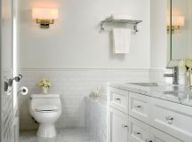 White Marble Bathroom - Traditional - Bathroom - other ...