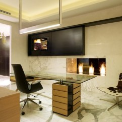 Cow Print Chair For Writing Desk Modern Linear Fireplace - Home Office Miami By Urban Concepts Design