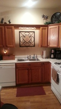 kitchen with no window above sink