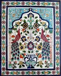Peacock Ceramic Mosaic 20-tile Wall Mural - Contemporary ...