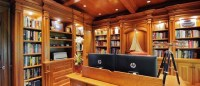 Library/Home Office renovation - Traditional - Home Office ...