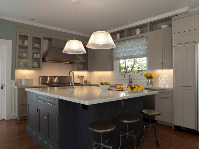 Blue and Gray Kitchen  Traditional  Kitchen  other