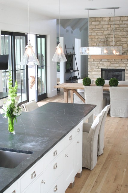 soapstone kitchen counters gilbert clock urban farmhouse