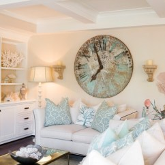 Living Room Wall Clocks Cozy Color Palette Crazy For Town Country Beach Style By Corona Del Mar Architects Designers Bliss Design Firm
